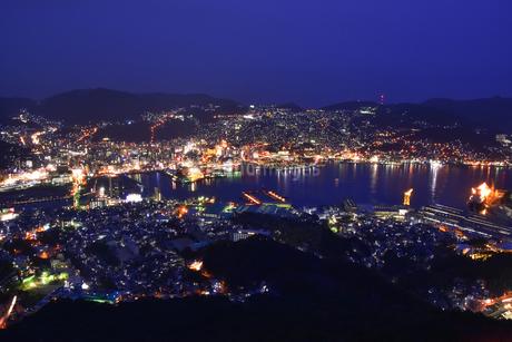 長崎夜景 稲佐山の写真素材 [FYI01804857]
