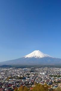 山梨県 新倉山浅間公園より富士山の写真素材 [FYI01804875]