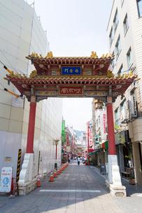 神戸南京町の海栄門の写真素材 [FYI01805085]