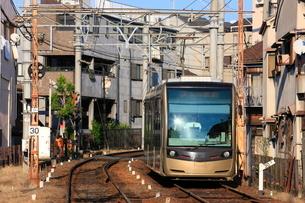 阪堺電車 住吉停留場付近の写真素材 [FYI01805132]
