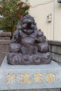 湯村温泉の荒湯天狗像の写真素材 [FYI01805155]