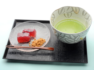 抹茶と和菓子の写真素材 [FYI01805305]