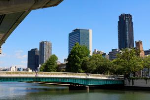 堂島川と鉾流橋の写真素材 [FYI01805465]