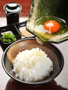 和食 たまごかけごはんの写真素材 [FYI01805586]