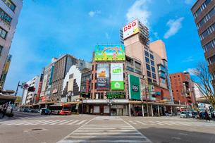 金沢の片町スクランブル交差点の写真素材 [FYI01805611]
