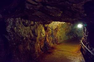 生野銀山の坑内の写真素材 [FYI01805732]