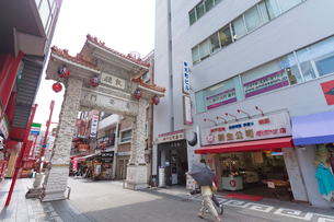 神戸南京町の長安門の写真素材 [FYI01805832]