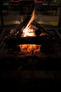 暖炉の炎の写真素材 [FYI01806057]