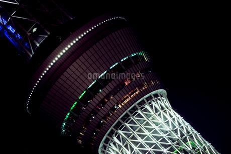 東京スカイツリーの夜景の写真素材 [FYI01806167]