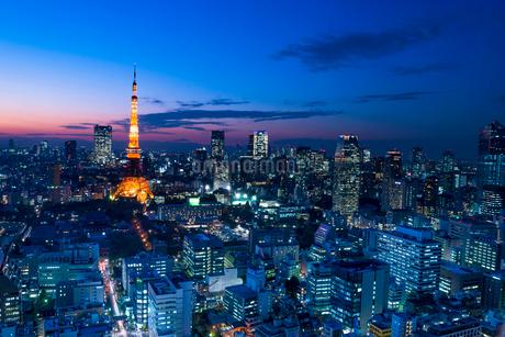 東京タワーのある夜景の写真素材 [FYI01806239]