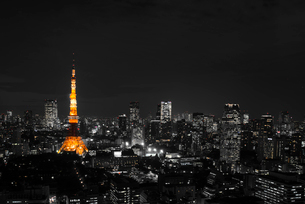 東京タワーのある夜景の写真素材 [FYI01806560]