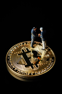 仮想通貨の写真素材 [FYI01807390]