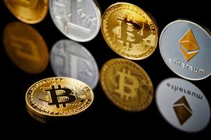 仮想通貨の写真素材 [FYI01807469]