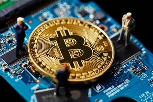 ビットコインの写真素材 [FYI01807671]