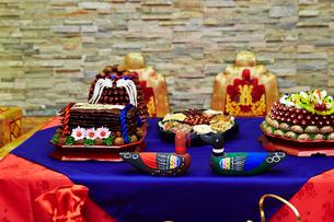 韓国の婚礼料理の写真素材 [FYI01808319]