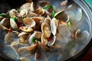 貝の鍋の写真素材 [FYI01808606]