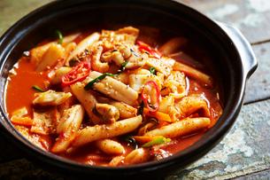 韓国の海鮮鍋の写真素材 [FYI01808679]