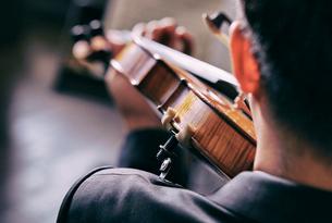 バイオリン奏者の写真素材 [FYI01808710]