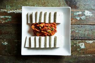 豆腐キムチの写真素材 [FYI01809008]