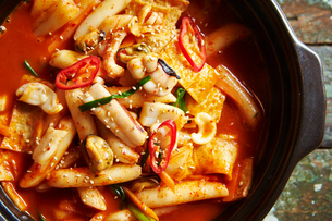 韓国の海鮮鍋の写真素材 [FYI01809285]