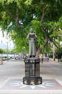 ハワイ、チャイナタウンの孫文像の写真素材 [FYI01809383]