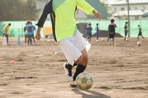 放課後のサッカー部の写真素材 [FYI01810120]