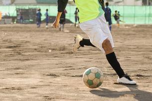 放課後のサッカー部の写真素材 [FYI01810429]