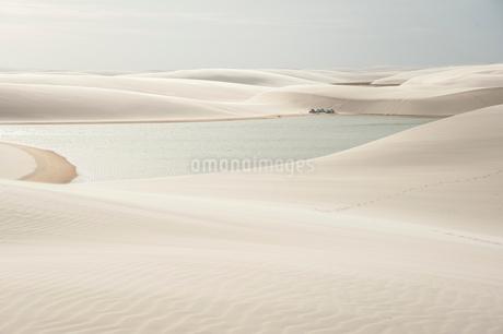 レンソイス砂漠の白砂のキャンプ地の写真素材 [FYI01810465]