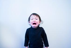 力の限り泣き叫ぶ子供の写真素材 [FYI01810652]