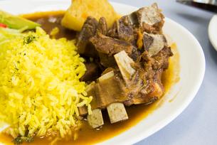 エクアドルの伝統料理 ヤギのシチューの写真素材 [FYI01810706]