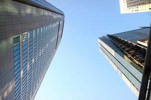 汐留のオフィスビルを見上げるの写真素材 [FYI01810996]