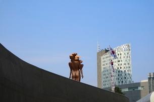 韓国 ソウルの巨大なアートホール デザインラボ 東大門(トンデムン) デザインプラザDDPの写真素材 [FYI01811128]
