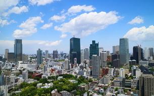 麻布十番から見える六本木1丁目方面の眺望の写真素材 [FYI01811266]