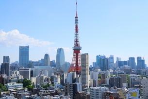 麻布十番から見える東京タワー方面の眺望の写真素材 [FYI01811272]