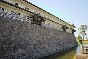 金沢城公園の石垣の写真素材 [FYI01811360]
