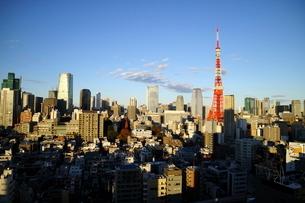 麻布十番からの東京タワー午後の写真素材 [FYI01811450]