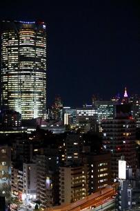 麻布十番からの六本木方面 夜景の写真素材 [FYI01811579]