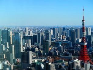 六本木ヒルズからの東京タワーの写真素材 [FYI01811618]