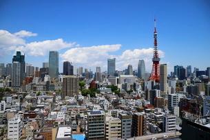 麻布十番から見える東京タワー方面の眺望の写真素材 [FYI01811643]