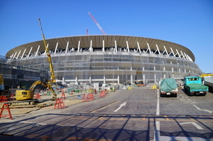 建設中の新国立競技場の写真素材 [FYI01811664]