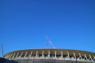 建設中の新国立競技場の写真素材 [FYI01811733]