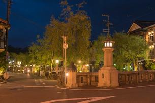 城崎温泉の夕景の写真素材 [FYI01812009]