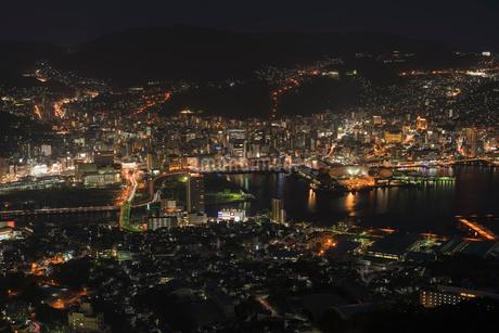 稲佐山から見る長崎の夜景の写真素材 [FYI01812153]