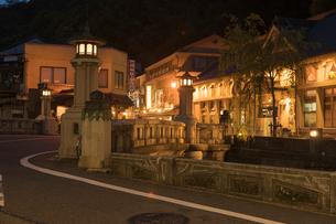 城崎温泉の夕景の写真素材 [FYI01812253]