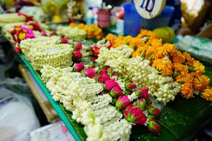 バンコクの屋台で売られるプアンマーライの写真素材 [FYI01813013]