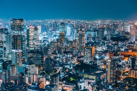 東京都心の夜景の写真素材 [FYI01813034]