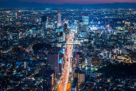 東京都心の夜景の写真素材 [FYI01813115]