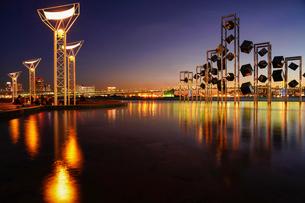 晴海埠頭夕景の写真素材 [FYI01813347]