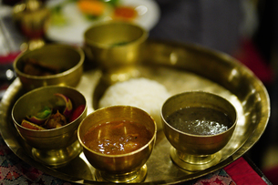 ネパール ダルバートの写真素材 [FYI01813381]