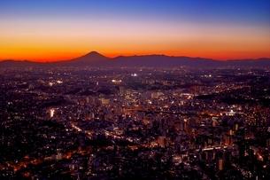 横浜ランドマークタワーから見た横浜の夜景の写真素材 [FYI01813587]